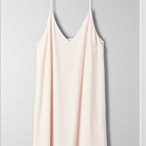 Aritzia Wilfred Free Vivienne Pink Tint Dress